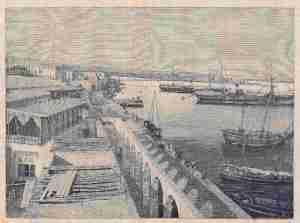 Le nuove banchine del porto di Massaua (Dall'llustrazione italiana)